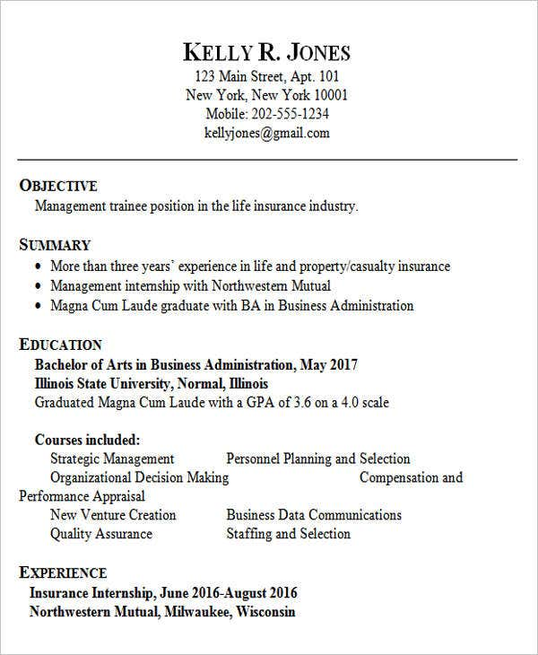 Sample Job Resumes Examples: 45+ Fresher Resume Templates - PDF, DOC