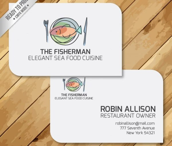 -Restaurant Manager Business Card