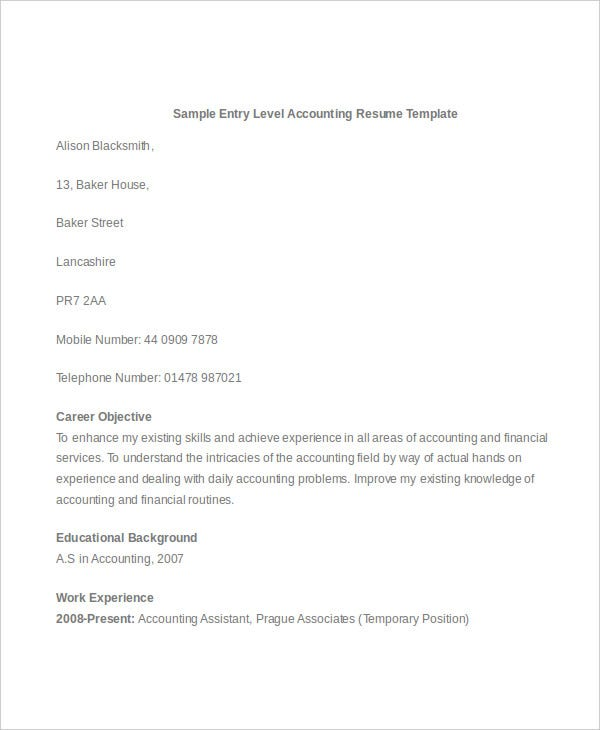 Cover Letter Cpa. Best Resume Objective Resume Objective Examples