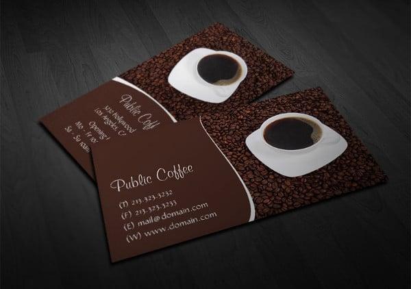 coffee restaurant business card