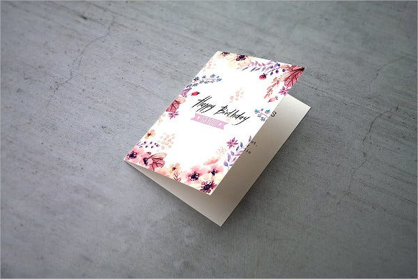 bi fold greeting card template
