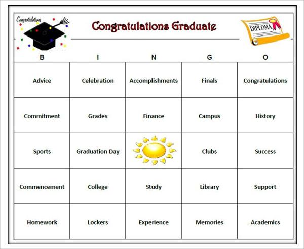 graduation-bingo-card