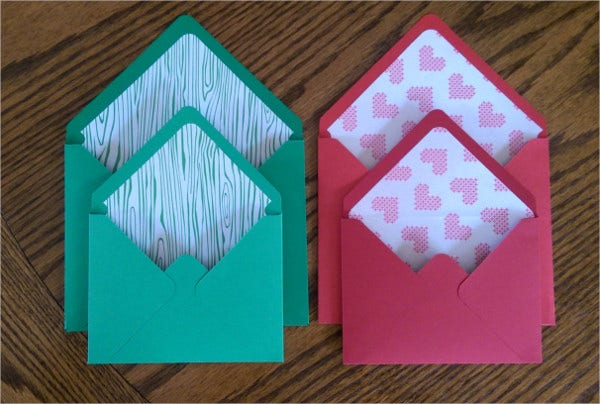 Greeting Card Envelope Template