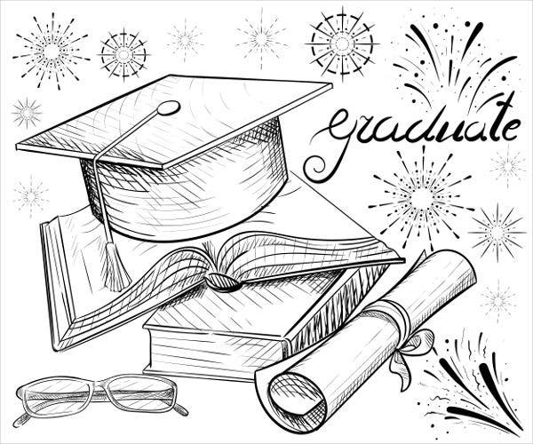 graduation hat card