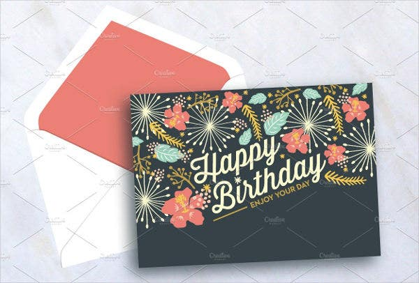 birthday card template psd