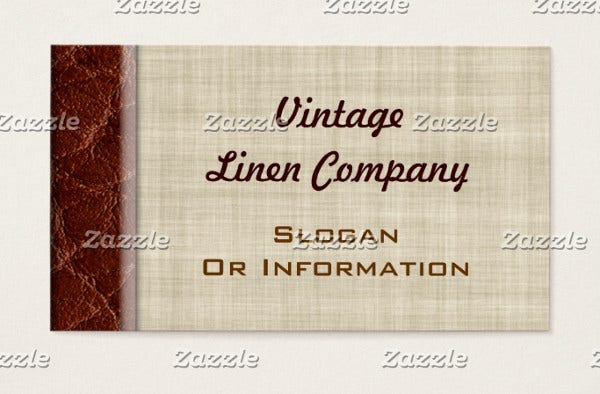 -Vintage Leather Business Card
