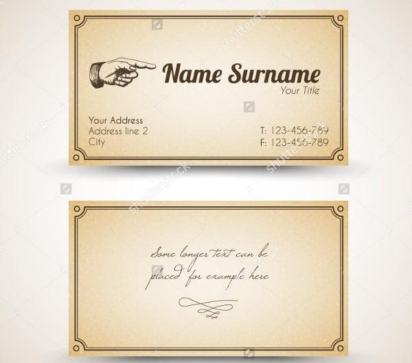 -Retro Vintage Business Card