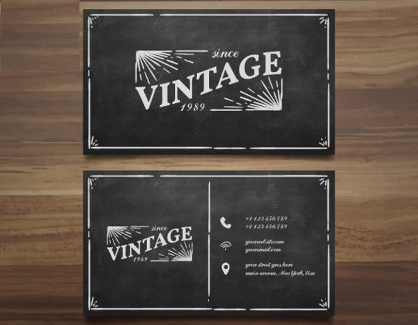 -Corporate Vintage Business Card