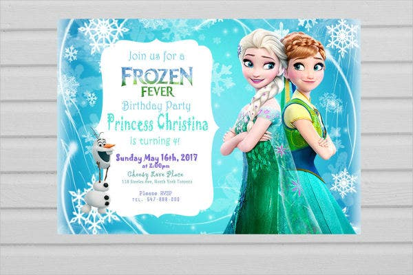 Frozen Birthday Card Template