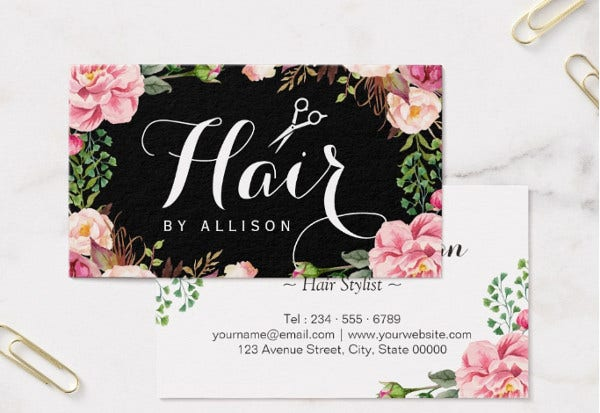 -Hair Salon Business Card
