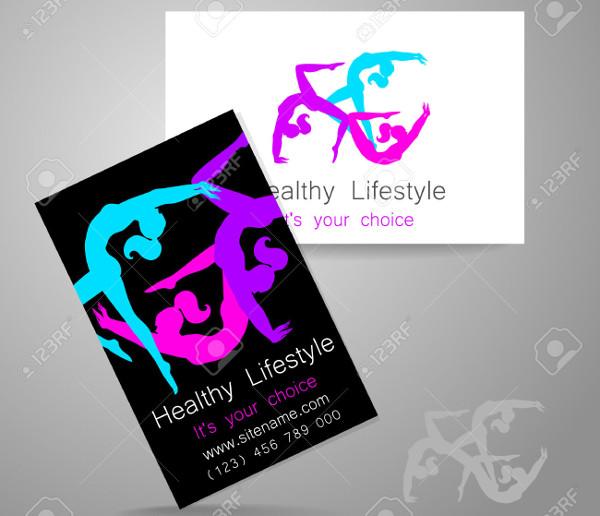 -Fitness Salon Business Card