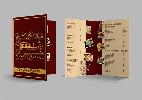 Food Menu Card Template