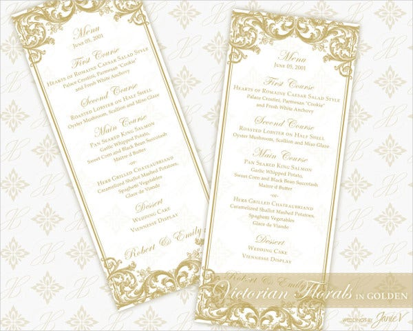 diy menu card template