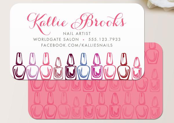 -Nail Salon Business Card