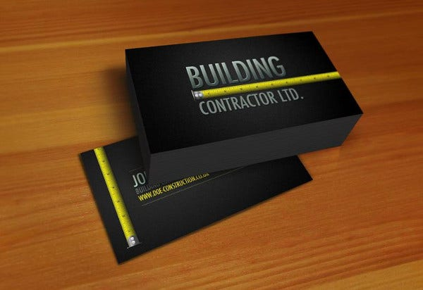 Building Construction Business : Business card examples free premium templates