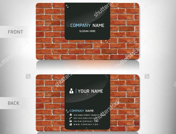 -Professional Construction Business Card