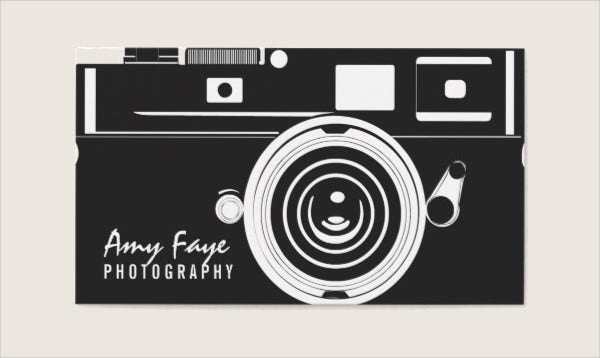 photography visiting card template