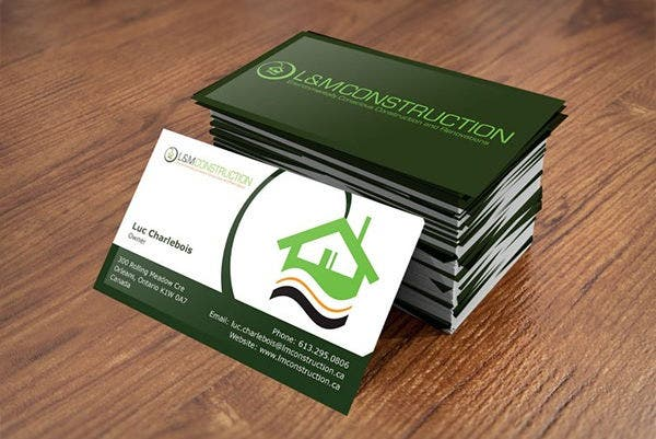 Business card examples free premium templates free construction business card reheart Images