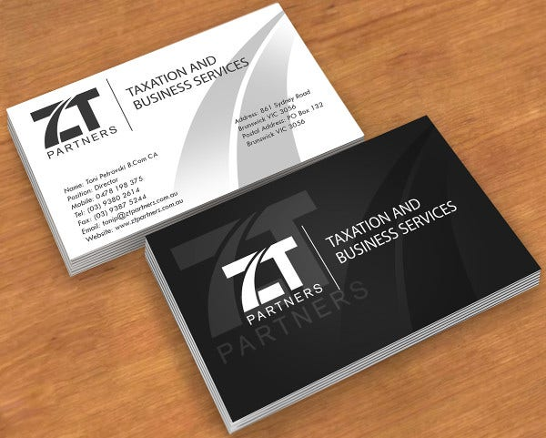 Business card examples free premium templates accounting firm business card fbccfo Image collections
