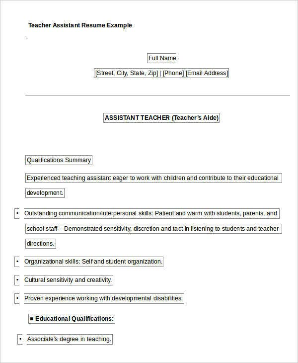 Bailey Middle School Book Report Homework Completion Interventions Resume  Resource There Are Several Parts Of Assistant  Professional Teaching Resume
