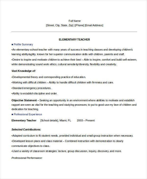 Modern Teacher Resumes Free Premium Templates  School Teacher Resume