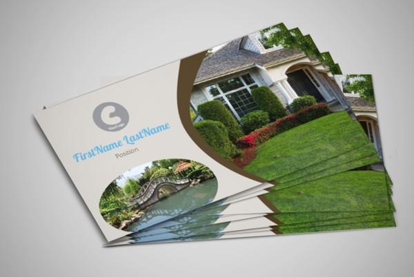 garden landscaping business card