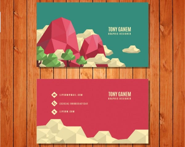 free landscaping business card