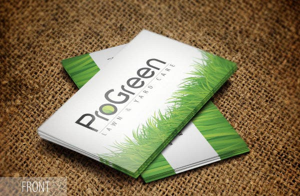 Business card examples free premium templates landscaping and lawn business card flashek Gallery