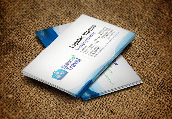 -Tour and Travel Business Card
