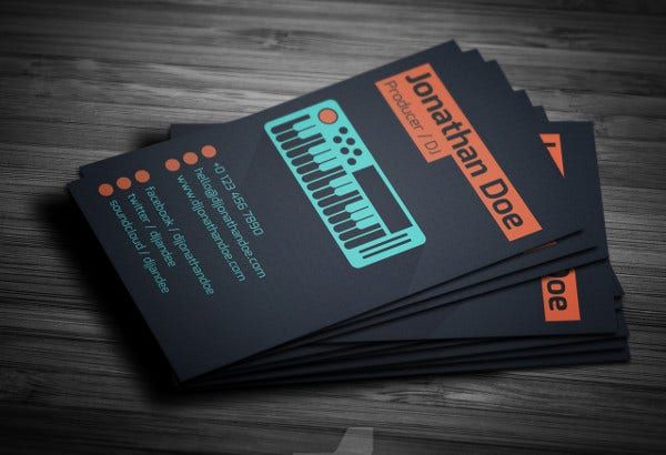 -Digital Dj Business Card