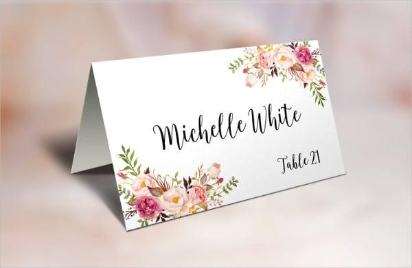 folding name card