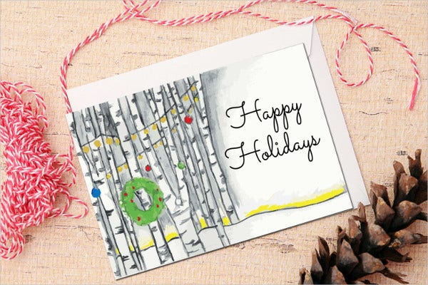 happy holiday card template