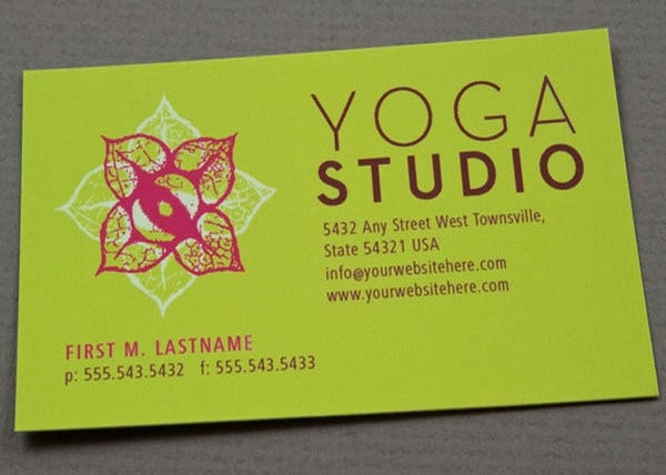 -Yoga Instructor Business Card