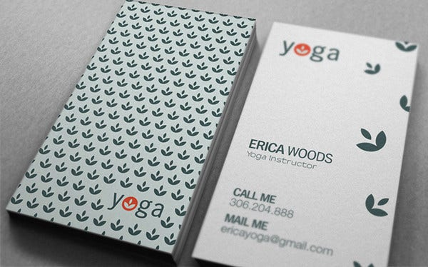 -Yoga Teacher Business Card