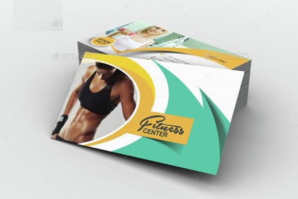 -Fitness and Yoga Business Card