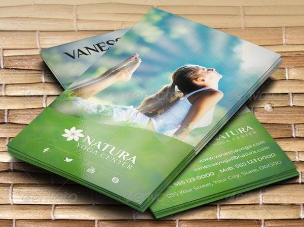 -Yoga Center Business Card