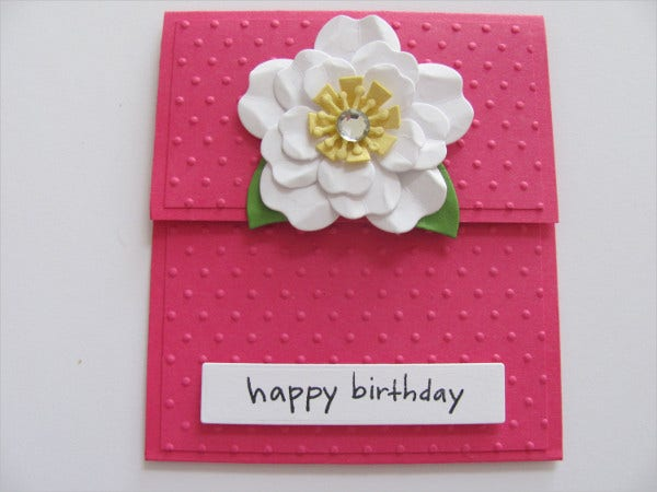 Birthday Gift Card Template