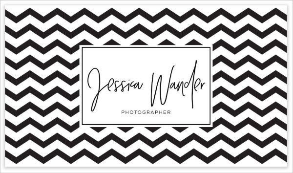 Printable business cards free premium templates black and white chevron business card colourmoves Gallery