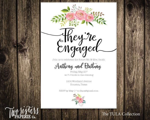 floral engagement party invitation1