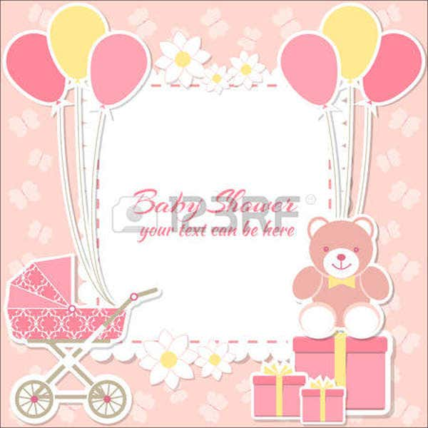 gift card templates  free  premium templates, Baby shower invitation