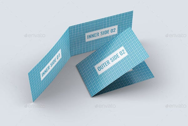 Horizontal Folded Business Card