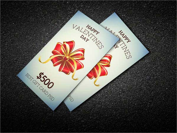-Valentine Gift Card Vector