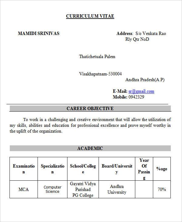 Resume Rathnakar Java Fresher