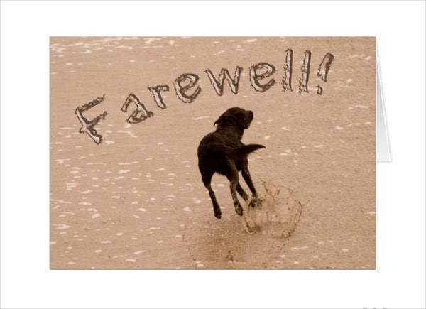 farewell retirement card