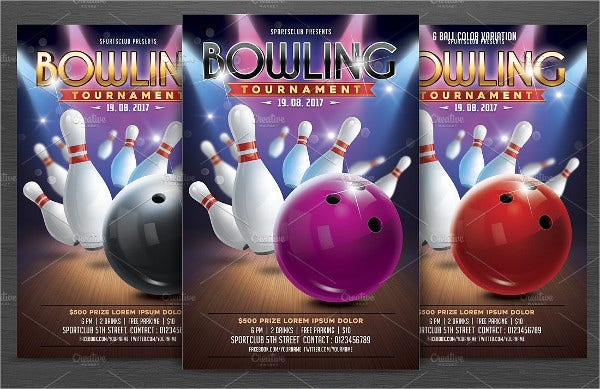 bowling event flyer