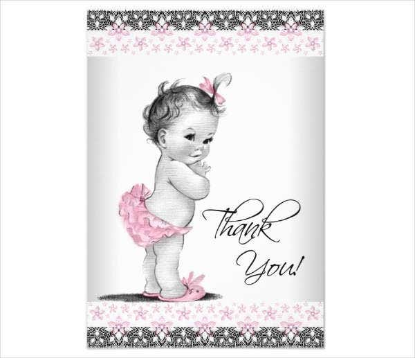 -Baby Gift Thank You Card