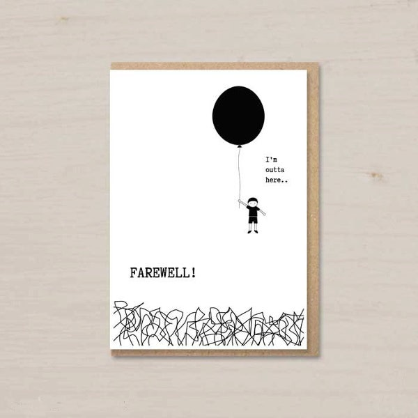 virtual farewell card