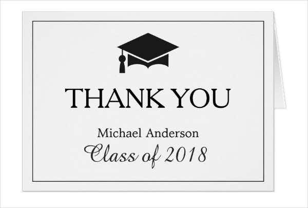 -Graduation Gift Thank You Card