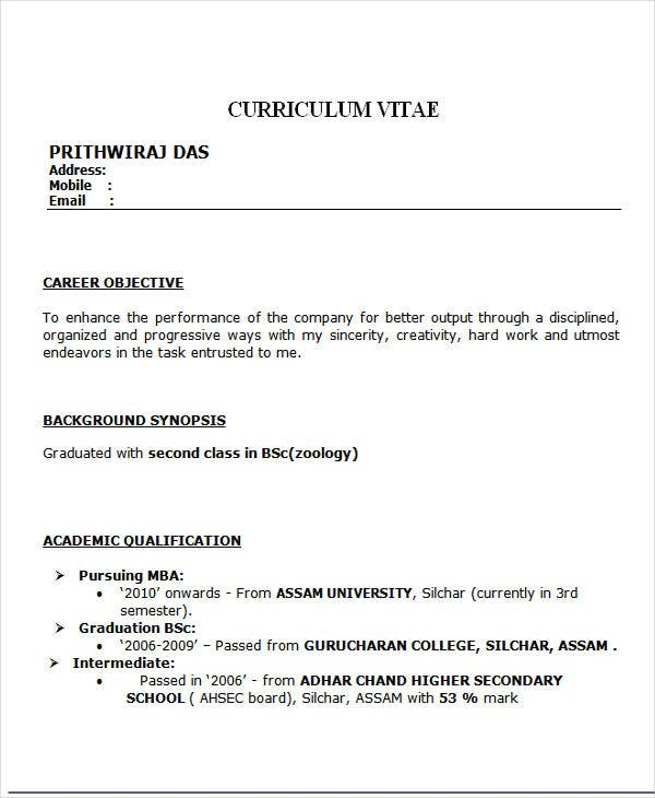 best resume format for freshers hr resume format  Template net