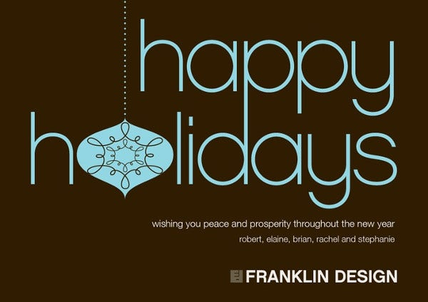 -Electronic Holiday Business Card